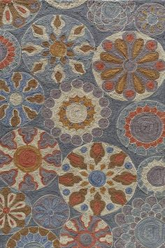 Some blue area rugs