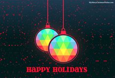 A very beautiful and simple image of Happy Holidays. #happy #holiday #happyholidays #quotes #images #wallpaper