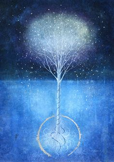 "Saatchi Online Artist Mark Duffin; Printmaking, ""snow tree"""
