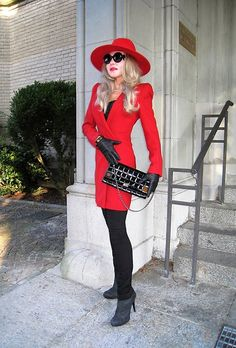 Look 385 , Lady in red . Red Leather, Leather Jacket, Tiana, Lady In Red, Elegant, Chic, Jackets, Fashion, Fashion Styles