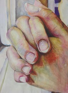 Watercolour study, A3