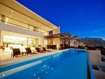 A dream home with an infinity pool, a view toward the sea as well as the mountains. #architechture #property