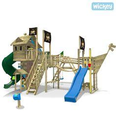 Simple Baumhaus Wickey NeverLand Gold ohne Turborutsche Kletterger steGarten