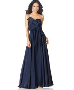 JS Collections Dress, Strapless Long Evening Dress in Navy -- I love how this looks in this color.... (macys)