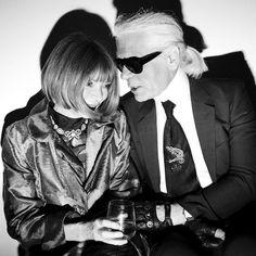 Anna Wintour & Karl Lagerfeld