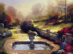 thomas kinkade, Kincaid, summer cottage