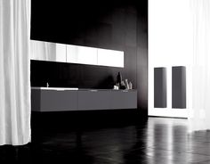 Aspen Viskan NCS Charcoal Bathroom Badrum www. www. Aspen, Bathroom Lighting, Bathtub, Mirror, Inspiration, Furniture, Art Director, Home Decor, Trendy Tree
