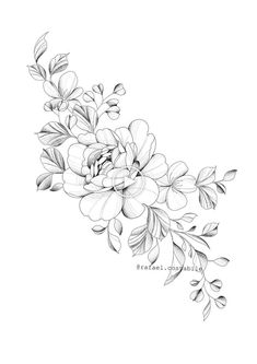 Hottest Free Peonies dibujo Ideas The peony is definitely insanely attractive in bloom out of early spring to summer—using lush plant life al Forearm Flower Tattoo, Forearm Tattoos, Body Art Tattoos, Small Tattoos, Sleeve Tattoos, Floral Tattoo Design, Flower Tattoo Designs, Tattoo Sketches, Tattoo Drawings