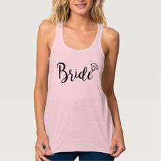 Bride Bling Diamond Tank Top - party gifts gift ideas diy customize