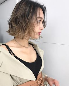 Pin on ヘアスタイル Hair Color And Cut, Shoulder Length Hair, How To Make Hair, Hair Highlights, Ombre Hair, Hair Looks, Bob Hairstyles, My Hair, Short Hair Styles
