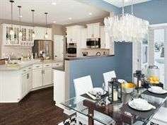 paint from the model home of our kitchen/dining area
