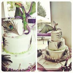 Chocolate dragon cake.