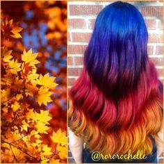 Fall hair color inspiration by Rochelle Fairfield ORANGE HAIR hotonbeauty.com