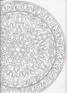 Islamic Art Pattern, Pattern Art, Stencils, Gothic Pattern, Pottery Painting Designs, Persian Pattern, Arabesque, Turkish Art, Ornaments Design