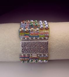 This is another view of 'Pixelation', the bead loom weaving technique I'll be teaching at 'BEAD SOUP' in Savage Mills Maryland, May 11th and May 18th. Call then for details!