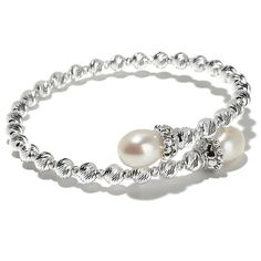 Imperial Pearls 9-10mm Cultured Pearl Bypass Bracelet