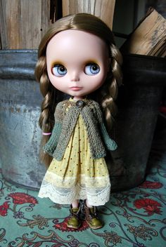 Blythe Doll Knitted Cotton Cardigan by AuntieShrews on Etsy