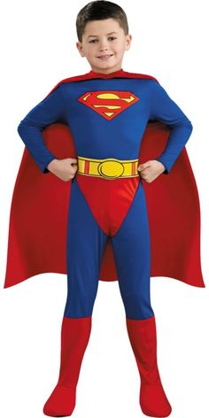 """Boys Superman Costume from party city<>You can put this on a Labrador Retriever, so that""""s what I'm going to do for my dog's  halloween costume!!!"""