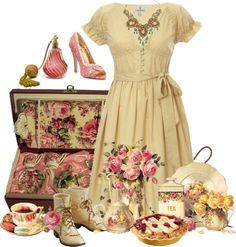 """""""tea time"""" by countrycousin ❤ liked on Polyvore"""