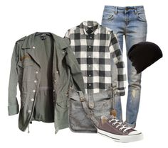 outfit by mkomorowski on Polyvore featuring J.Crew, Topshop, Anine Bing, Frye, Belmondo and Converse