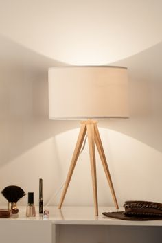 Tripod Wood Table Lamp