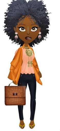 Cartoon Characters With Short Hair : African american cartoon characters girls