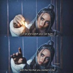 Billie Eilish may have just turned but her super-relatable song lyrics about love and heartbreak speak to all ages. We've gathered some of our picks of the best Billie Eilish quotes and heartbreaking lyrics that will hit you right in the feels. Xxxtentacion Quotes, Lyric Quotes, Funny Quotes, 5sos Quotes, Small Quotes, Baby Quotes, Movie Quotes, Life Quotes, Billie Eilish