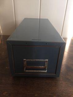 Steelmaster Single Drawer Industrial Index Card File Cabinet/Metal Box/Metal  Drawer/Metal File Cabinet/Vintage File Cabinet/Small Metal Box