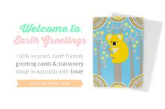 Earth Friendly Greeting Cards & Stationery | Eco Friendly Stationery | Australian Made Stationery | Recycled & Handmade | Earth Greetings