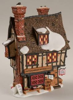 Department 56 Dickens Village Antiquarian Bookseller - With Box Santa's Village, Christmas Village Display, Christmas Village Houses, Christmas Town, Christmas Villages, Christmas Deco, Xmas, Department 56, Christmas Village Collections