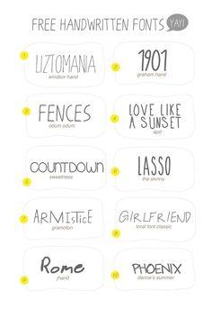 GET EM'! 10 Free Handwritten Fonts