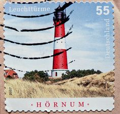 Vuurtoren postzegels beautiful stamp Germany 55c Hörnum lighthouse Hoernum Leuchtturm Leuchttürme Germany timbres allemagne phare selo faro alemanha francobollo stamps dēngtǎ 灯塔 маяк 灯台 등대 Farol Sello | Flickr - Photo Sharing!