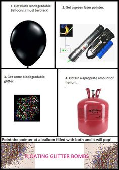 Floating glitter bombs...