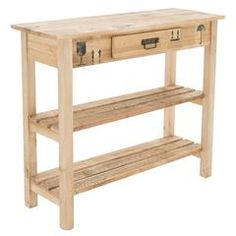 WOODEN CONSOLE IN NATURAL COLOR 95X32X80