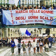 Torino integrazione: Marcia  delle donne e degli uomini scalzi - Torino...