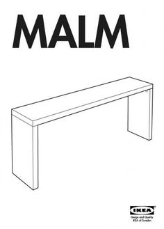 Genial IKEA Malm Occasional Sofa Table   Add Caster Wheels. Use The Table To Roll  Over