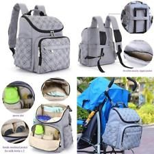 Baby Bag Backpack With Stroller Straps Stylish Travel Designer 12 Pockets Grey http://ift.tt/2BAWdRh