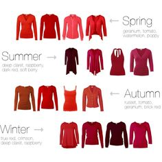 Reds for all seasons by kettlewellcolours on Polyvore featuring Mode