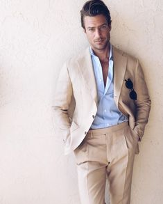 Mens Fashion Suits, Mens Suits, Suit Men, Men's Fashion, Fashion Styles, Fashion Rings, Luxury Fashion, Costume En Lin, Linen Suits For Men