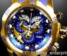 b121300fb384 Detalles acerca de Para Hombre Invicta Reserve Venom Swiss Reloj Movt  Master Calendar Oro Azul Nuevo 14465- mostrar título original