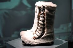 Bally's facsimile of the first boots to summit Mt. Everst 60 years ago (in Bally reindeer, of course)
