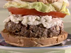 Bleu Cheese and Bacon Burgers Recipe : Sandra Lee : Food Network