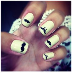 Moustache ask you a question? How cute do you think this nail art is?!