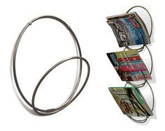 Circular Magazine Storage - Spice Up Your Condo With The Ring-Ring Wall-Mounted Rack