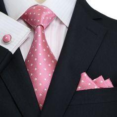 Pink and White Polka Dot JPM18A09 – Toramon Necktie Company