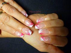 pink & white  by HezsaiSzilvia - Nail Art Gallery nailartgallery.nailsmag.com by Nails Magazine www.nailsmag.com #nailart