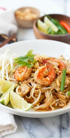 Shrimp Pad Thai – easiest and best Pad Thai recipe with shrimp. This homemade Thai fried noodle is better and healthier than takeout   rasamalaysia.com