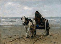 Anton Mauve - Schelpenvisser (Coll. Museum of Fine Arts, Boston)