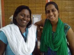 Deepthi and Pavithra who helped to reintegrate Renu with her family. A great success story. At The Banyan, C.hennai
