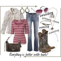 """""""Boots Make Life Magical!"""" by cornfedgirl on Polyvore"""